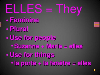 Pronoms sujets (Subject pronouns in French) review