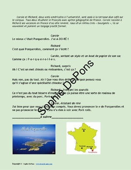 French Subjonctif present and past - French story -  Porquerolles