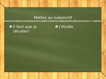 French Subjunctive Basic Formation Practice
