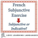 French Subjunctive Exercise - Subjunctive or Indicative? -