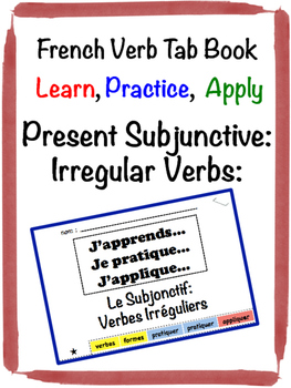 French Subjunctive (Irregular Verbs) Tab Book