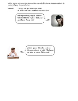 Subjunctive Practice (French) - Giving Advice