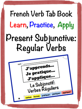 French Subjunctive (Regular Verbs) Tab Book