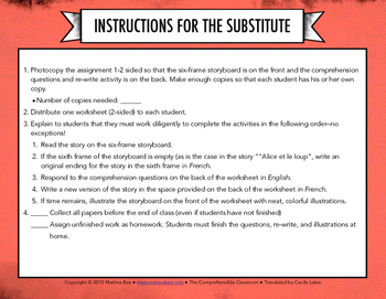 French Substitute Activities Bundle #1 - Sub plans for French classes
