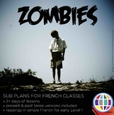 French no-prep Substitute Activities: ZOMBIES