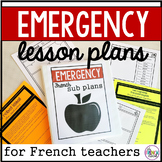 French Substitute Emergency Lesson Plans
