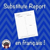 French Substitute Report Form
