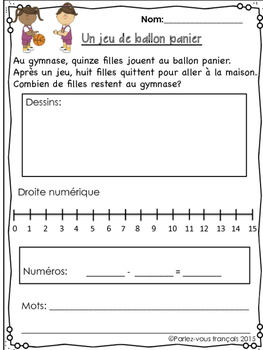 French Subtraction Bundle