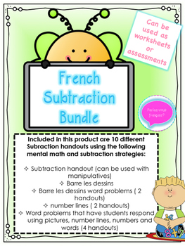 French Subtraction Bundle