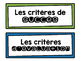 French Success Criteria & Learning Goals Headers and Signs