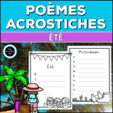 French Summer Acrostic Poems | Poèmes Acrostiches d'Été -