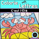 French Summer Color by Letter | Coloriages Magiques de l'É