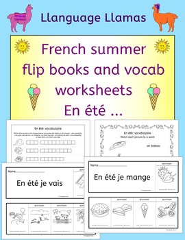 French Summer Flip Books and Vocabulary Worksheets