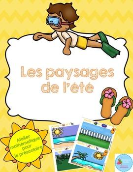 French Summer Math Center/ Paysages de l'été {Préscolaire}
