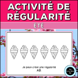 French Summer Math Patterning Activity: Les Régularités d'