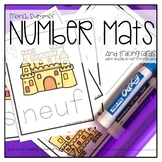 French Summer Number Mats and Tracing Cards