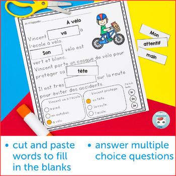 French Summer French Reading Comprehension Sheets | Compréhension de lecture ÉTÉ