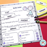 French Summer French Reading Comprehension Sheets   Compré