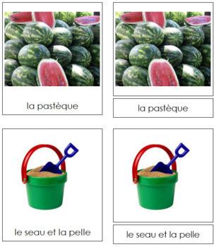 French - Summer Season Cards