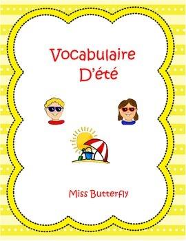 French Summer Spelling - Vocabulaire D'été