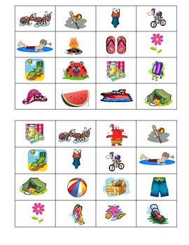 French Summer Time Bingo Game