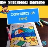 French Summer color by code / Coloriages magiques {été}