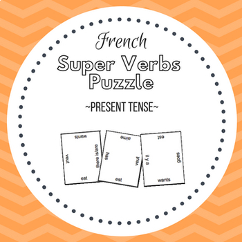 French Super Verbs Puzzle - Present Tense