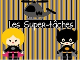 French Superhero Themed Classroom Jobs - Super-tâches