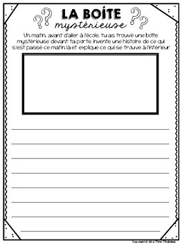 FRENCH No Prep Supply Teacher Activities / Trousse de suppléance