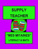 "French Supply Teacher Emergency Kit 1, ""Mes Mitaines"" Mini-Unit"