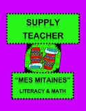"French Supply Teacher Emergency Kit 1, ""Mes Mitaines"" Mini-Unit"