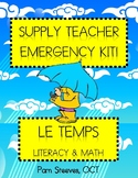 "French Supply Teacher Emergency Kit 2, ""Le temps"" Mini-Unit"