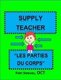 "French Supply Teacher Emergency Kit 3, ""Les parties du cor"