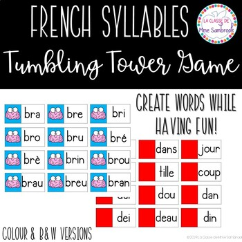 French Syllables Tumbling Tower Game