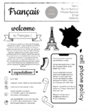 French Syllabus -Easy to edit in Google Slides