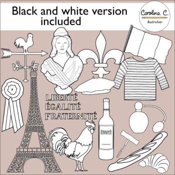 French Symbols Clip Art