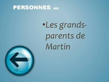 French TPRS- Où et passé Martin Jeopardy Review Game