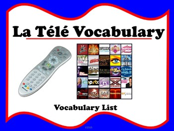 French TV Vocabulary List