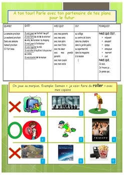 French TV programs and near future tense booklet for beginners
