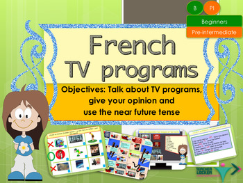 French hobbies tv, near future tense for beginners