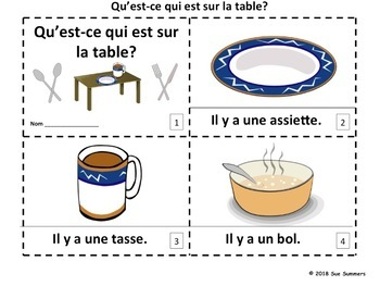 French Table 2 Emergent Reader Booklets - La Table