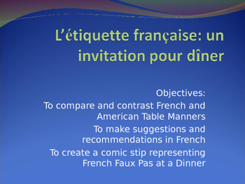 French Table Manners