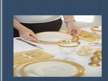 French Table Setting Vocabulary