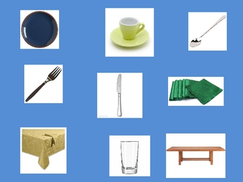French Table Setting (utensils)  Vocabulary Powerpoint