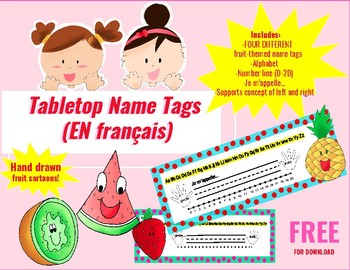 French Tabletop Name Tags