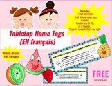 (FRENCH) Tabletop Name Tags