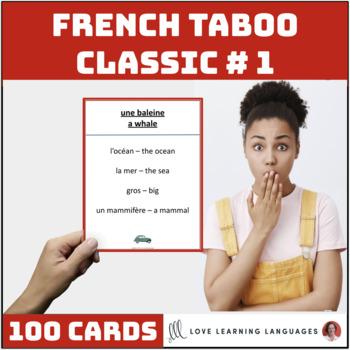 French Taboo Speaking Game - Version 1 - Jeu de Tabou en Français