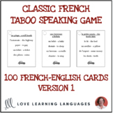 Classic French Taboo Speaking Game - Jeu de Tabou en Français