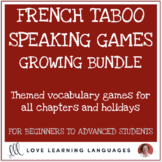French Taboo Speaking Games Growing Bundle - Jeux de Tabou