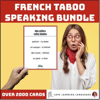 French Taboo Speaking Games Growing Bundle - Jeux de Tabou en Français